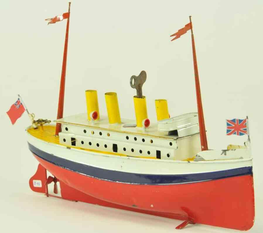 bing 155/325 blech spielzeug schiff ozeandampfer