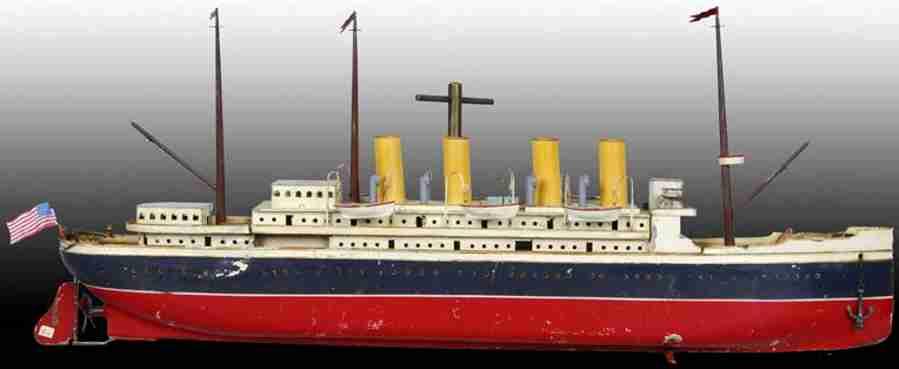 bing 155/1344 blech spielzeug schiff ozeandampfer uhrwerk serie 2