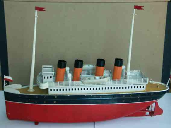 bing 155/377 blech spielzeug schiff ozeandampfer uhrwerk