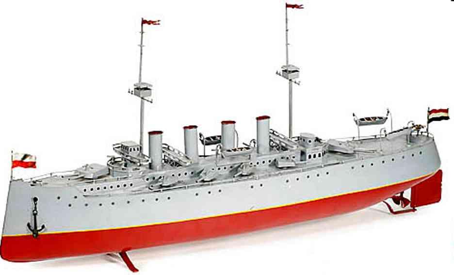 bing 155/455 blech spielzeug kriegsschiff uhrwerk