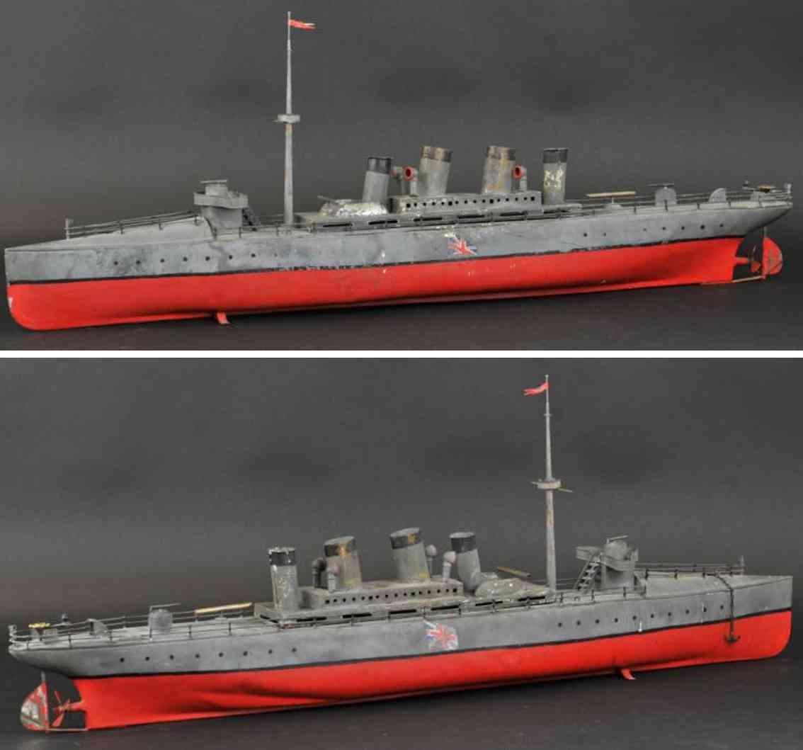 bing 155/553 blech spielzeug schiff dampfbetrieberner zerstoerer