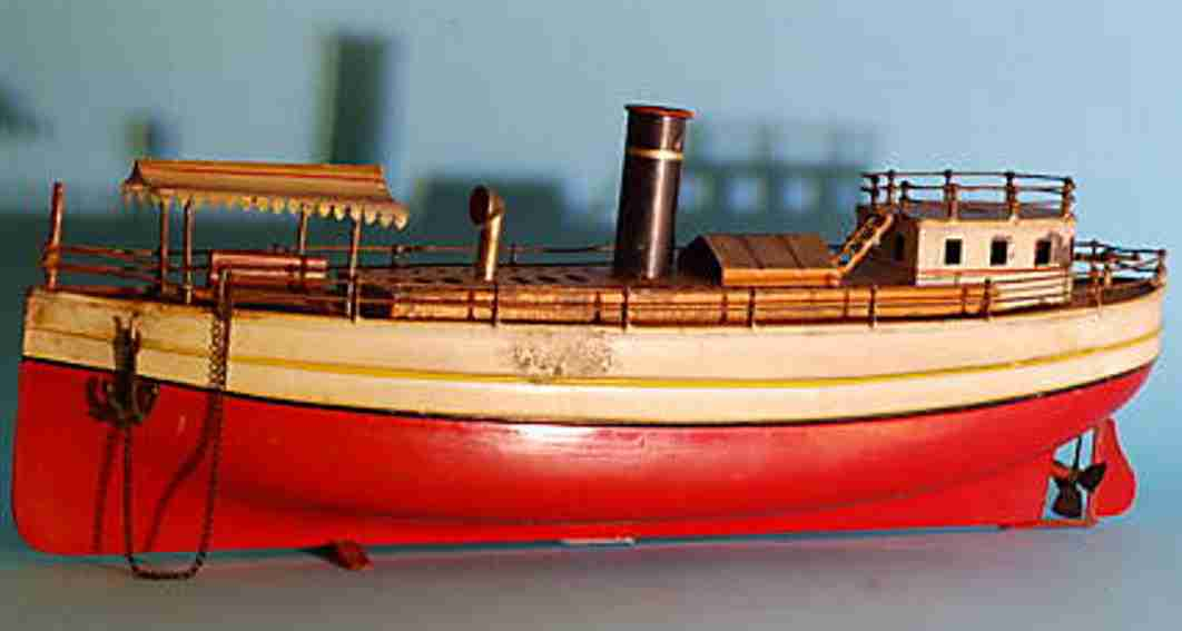 bing tin toy excursion steamer