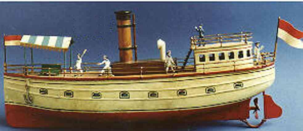 bing 155/51 blech spielzeug schiff flussdampfer uhrwerk