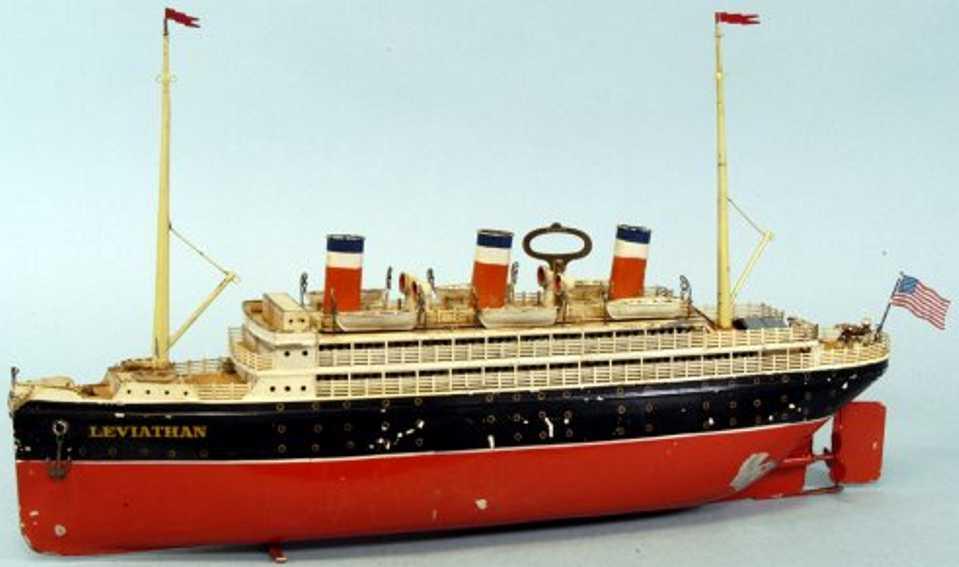 bing 10/334/14 blech spielzeug schiff leviathan ozeandampfer
