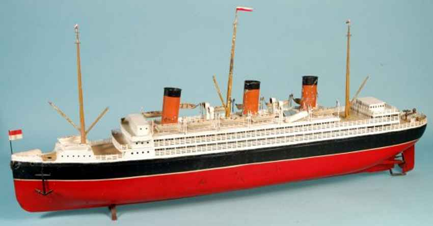 bing 10/334/16 tin toy transantlantic steamship clockwork