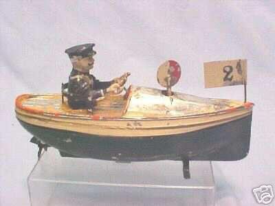bing blech spielzeug schnellboot mit antriebswerk