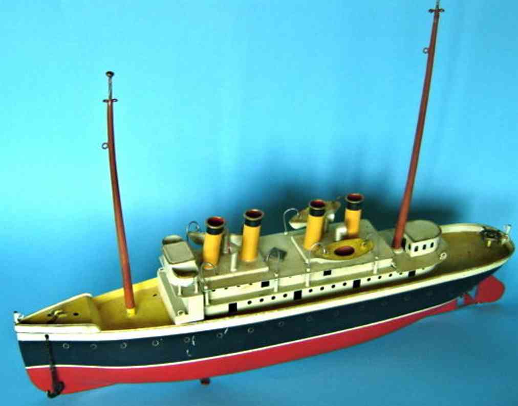 bing tin toy steamer clockwork lifeboats