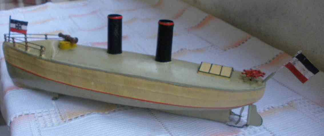 bing blech spielzeug kanonenboot mit uhrwerk