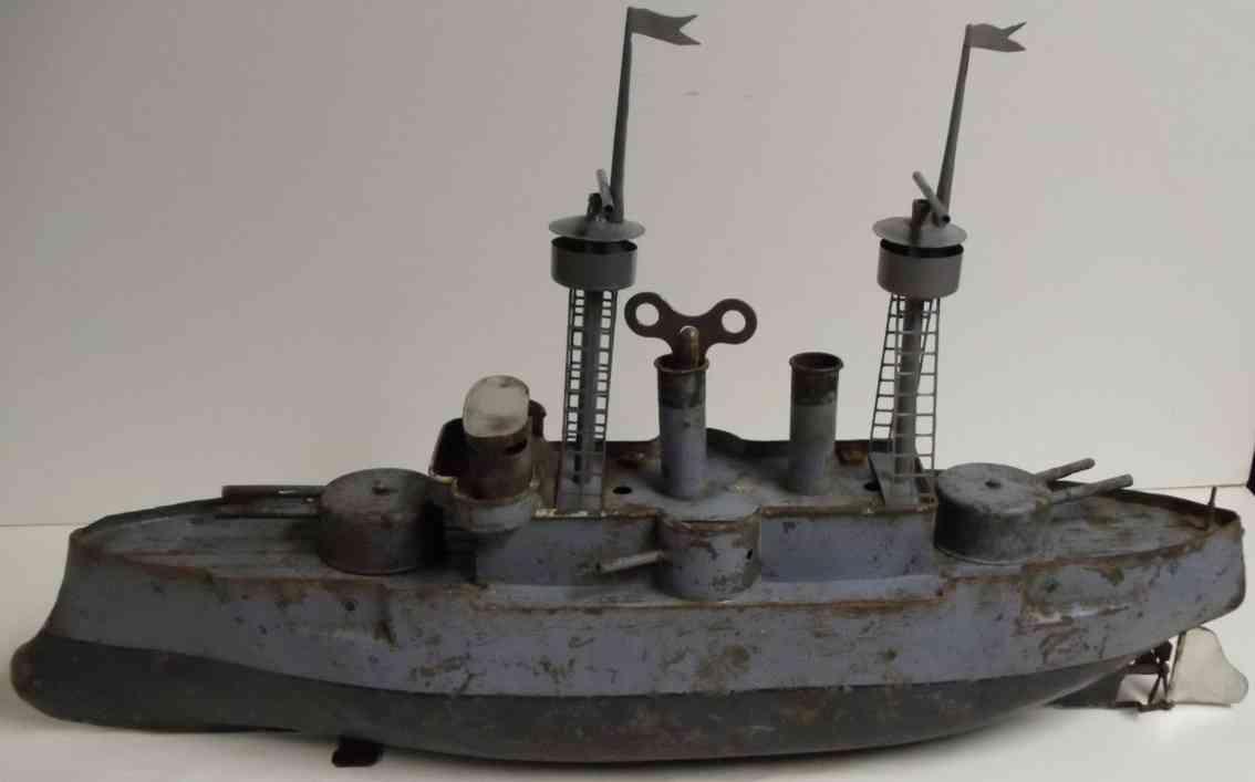 bing spielzeug blech kanonen kriegsschiff