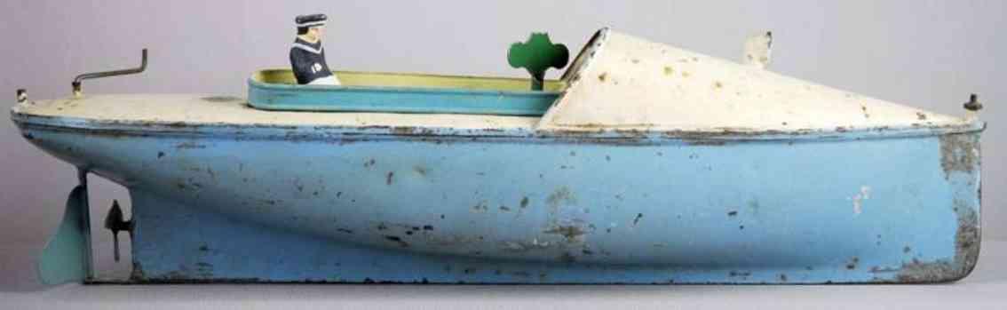 bing blech spielzeug rennboot mit uhrwerk porzellan segler