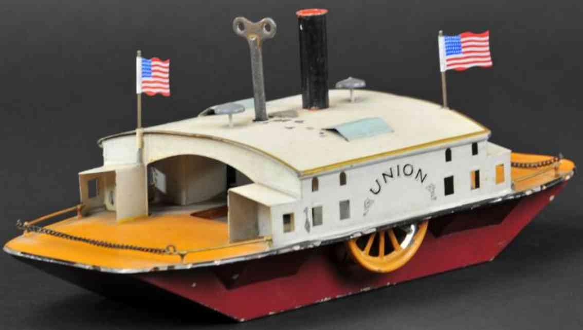bing 10/39tin toy ship ferry union