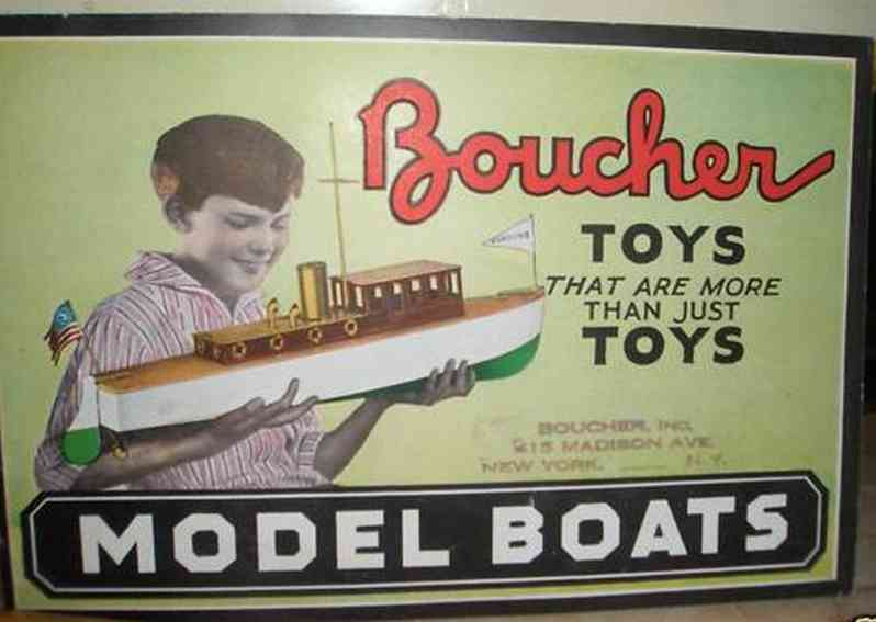 boucher he mfg co tin toy ship steam boat barracuda