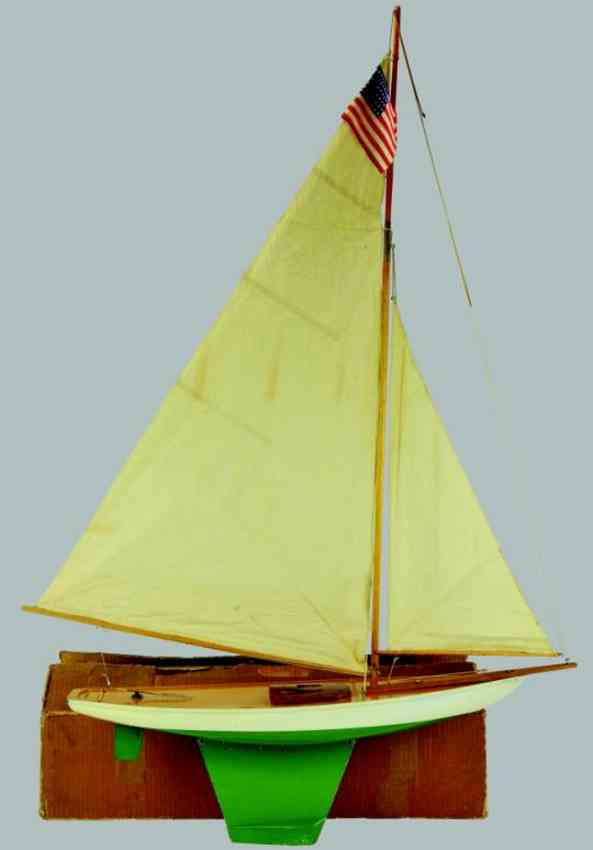 boucher he mfg co toy ship sloop rig curlew