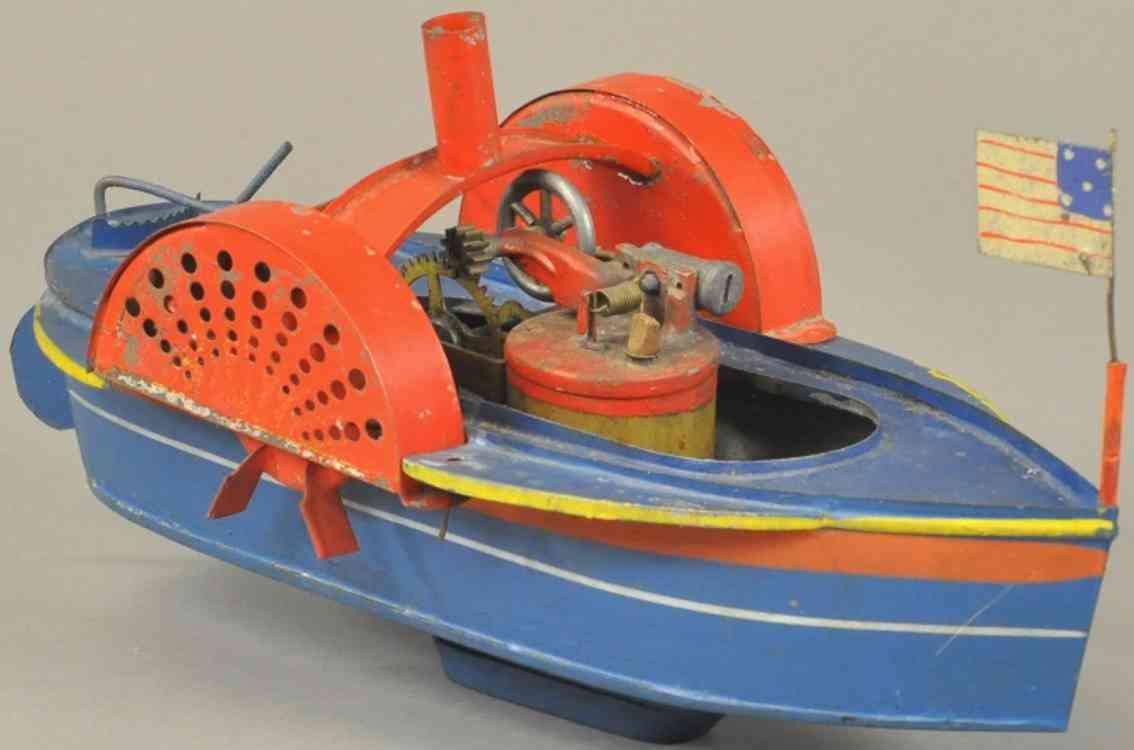 bramwell-smith blech spielzeug boot mit seitlichen schaufeln