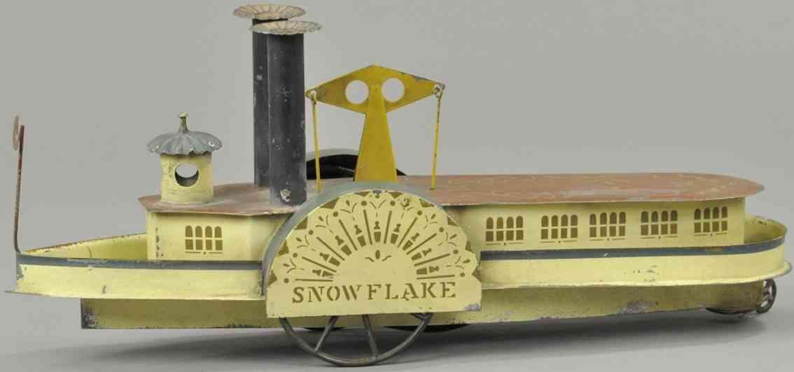 brown george Snow Flake blech spielzeug schaufelraddafmper snow flake, altes amerikanisches handbema