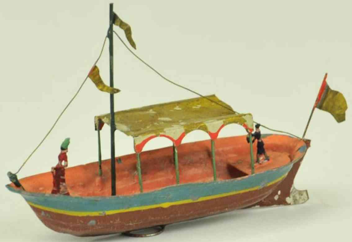 buchner blech spielzeug schiff barkasse figuren