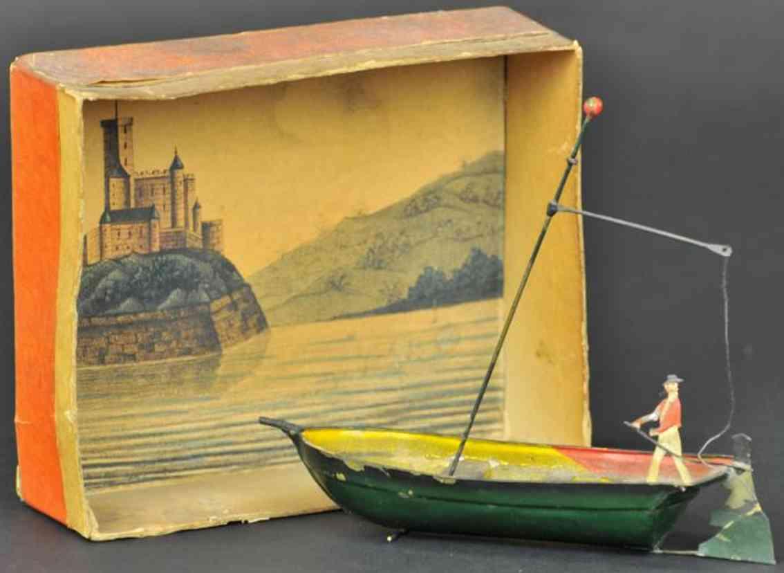 buchner tin toy launch pinnace tender figure