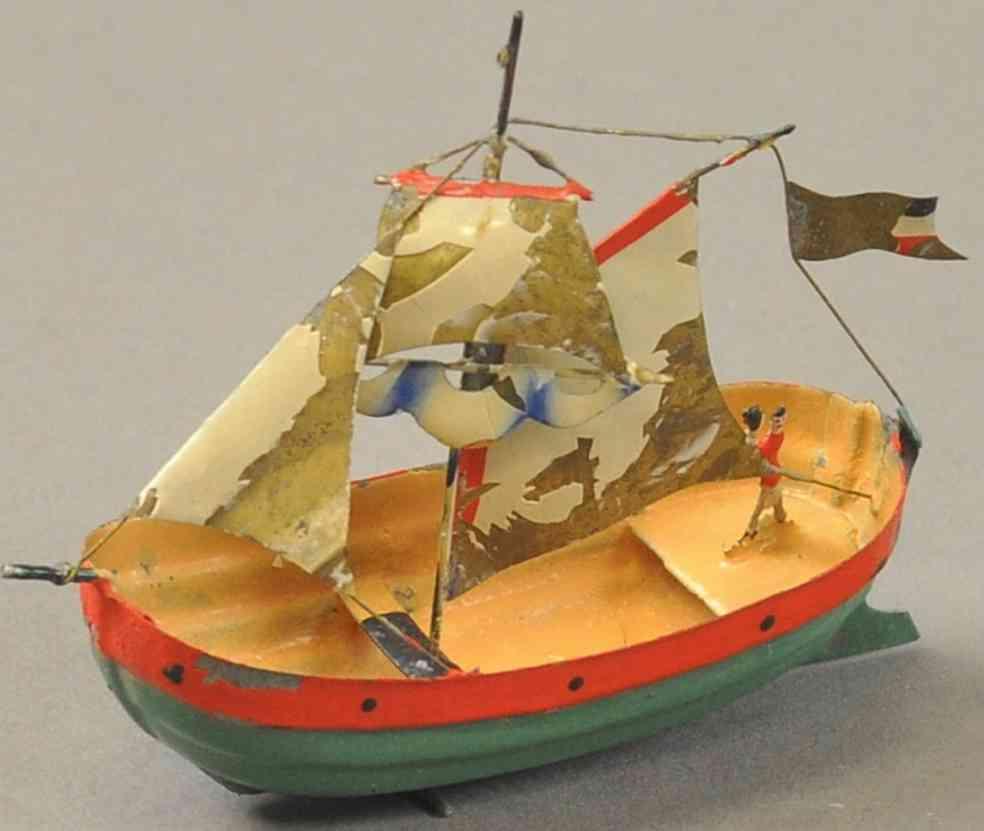 buchner blech spielzeug segelboot