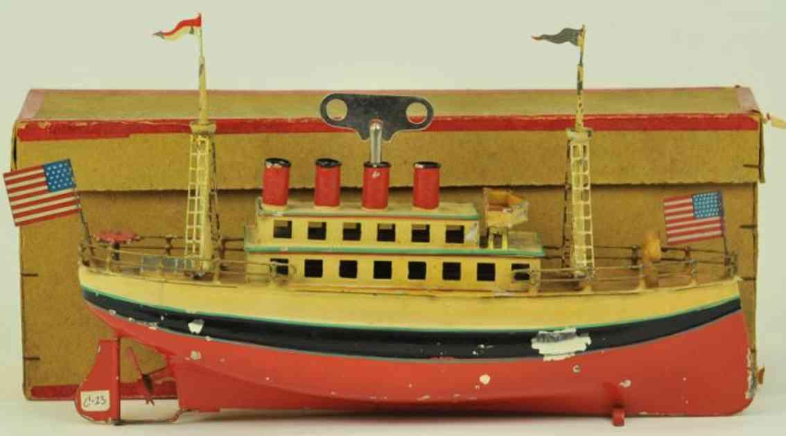 carette 713/24 blech spielzeug schiff passagierdampfer