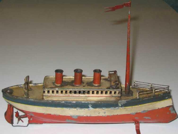 carette 713/23 blech spielzeug schiff vergnuegungsdampfer