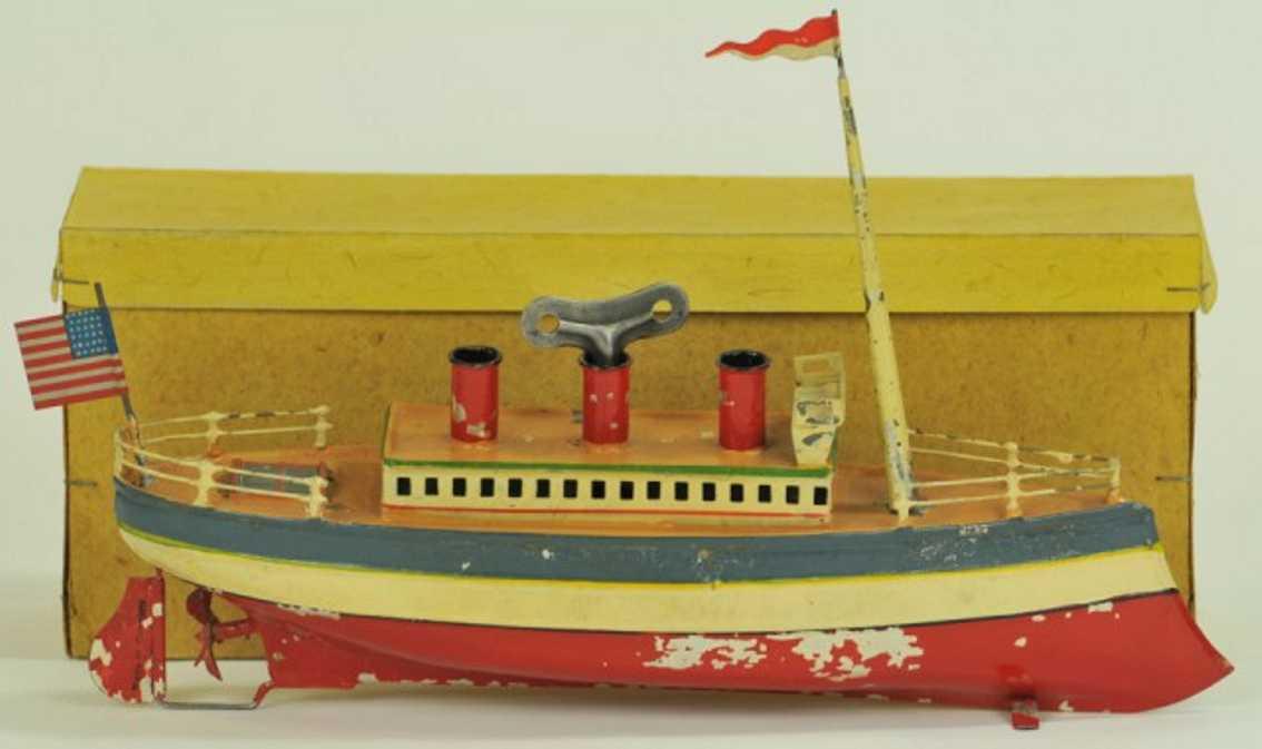 carette 732/24 blech spielzeug schiff ozeandampfer