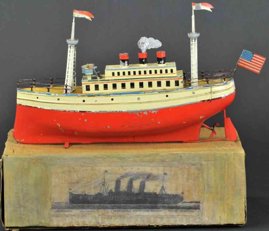 carette 732/26 blech spielzeug schiff ozendampfer