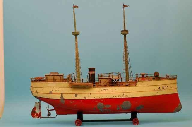 carette tin toy ship excursion steamer