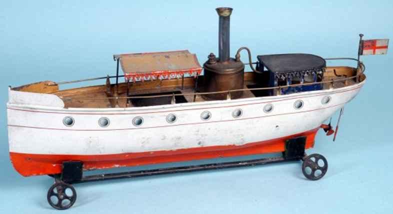 carette 162 blech spielzeug schiff flussboot