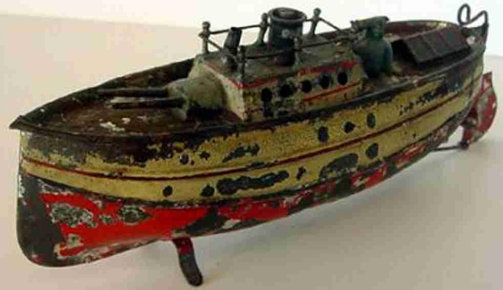 Carette Kriegsschiff mit Uhrwerkmotor