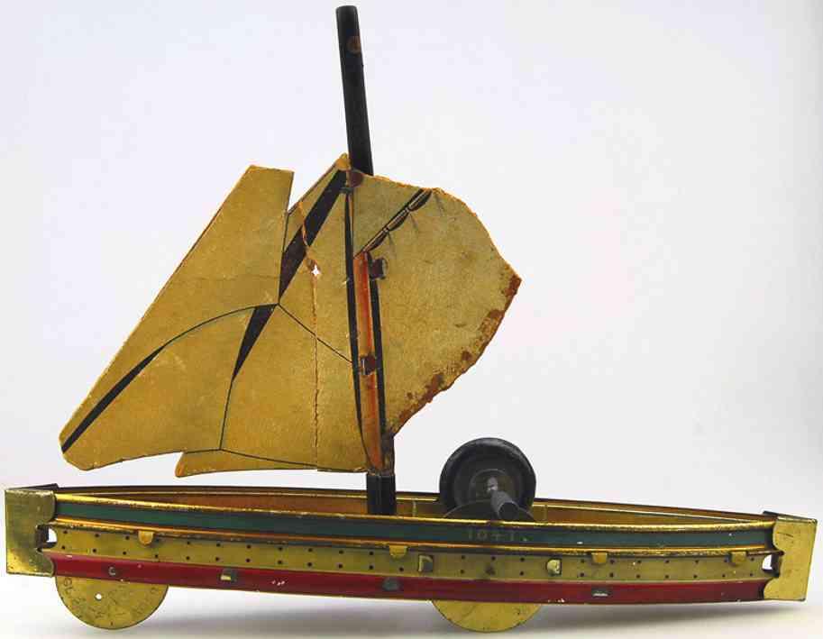 Carette Segelschiff als Bodenlaufer