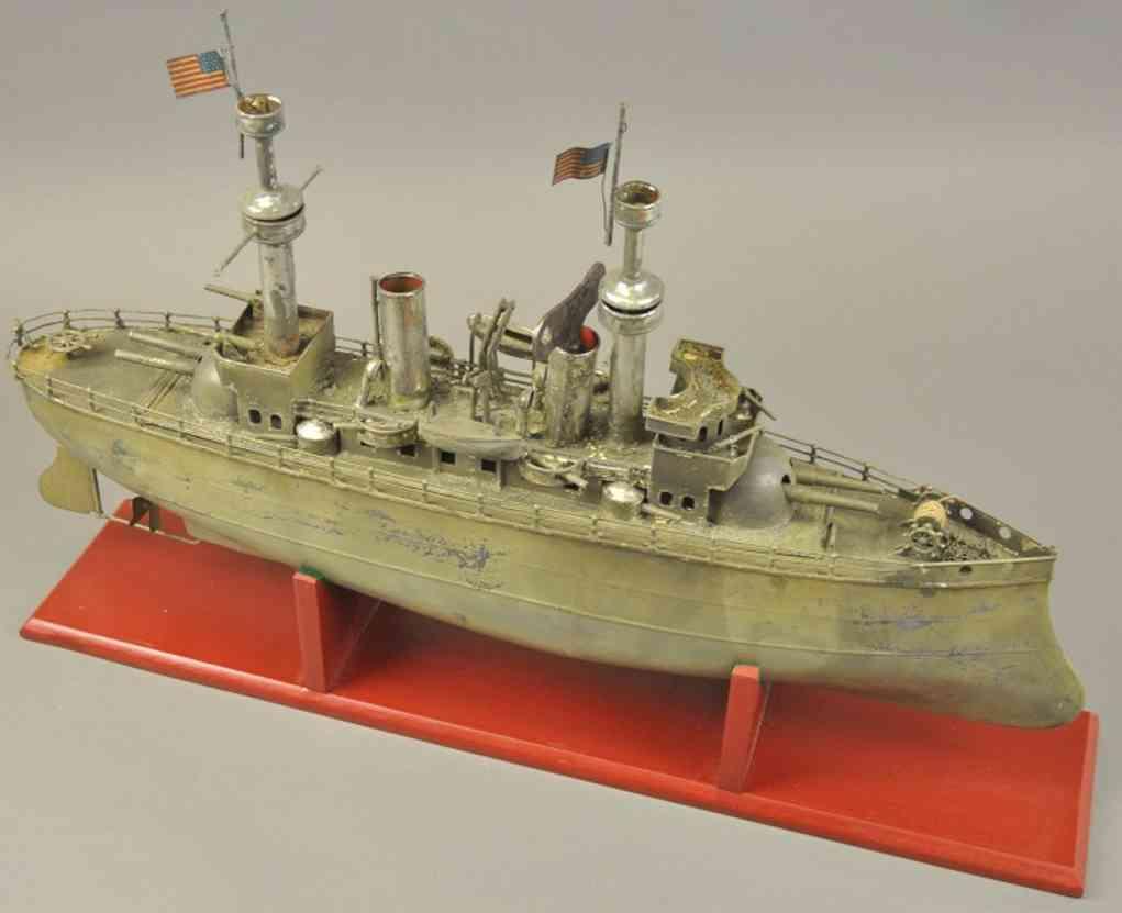 carette blech spielzeug kriegsschiff uhrwerk
