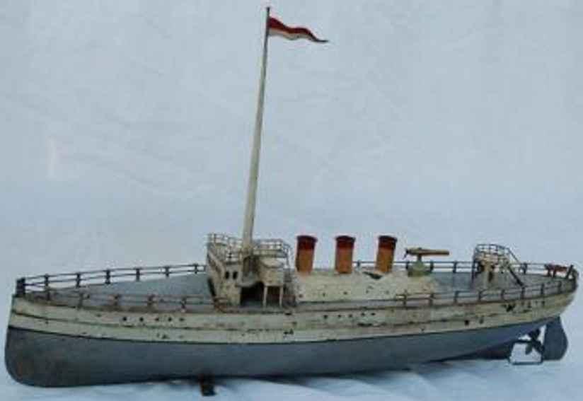 carette blech spielzeug schiff kanonenboot