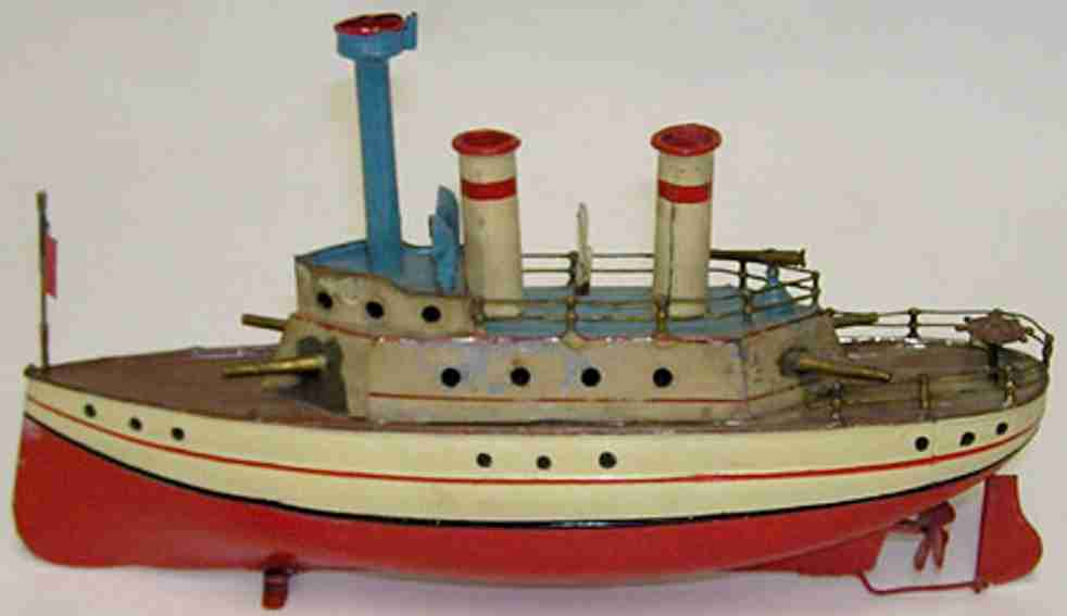 carette 721 tin toy ship boat with clockwork