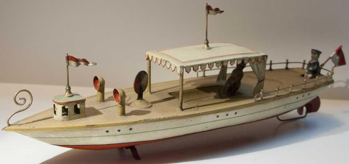 carette blech spielzeug schiff flussboot