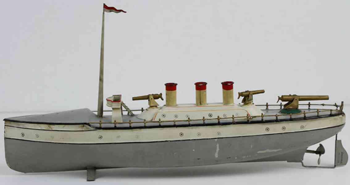 carette blech spielzeug schiff kriegsschiff
