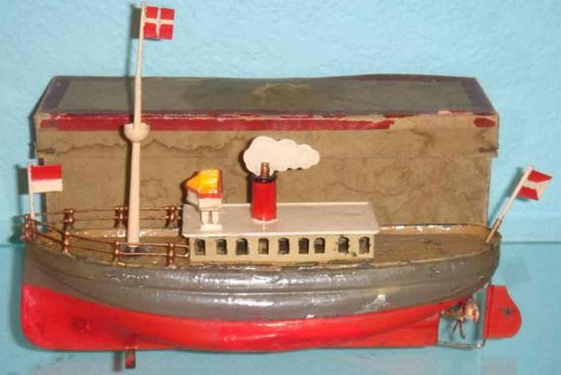 Carette Schiff aus Stahlblech