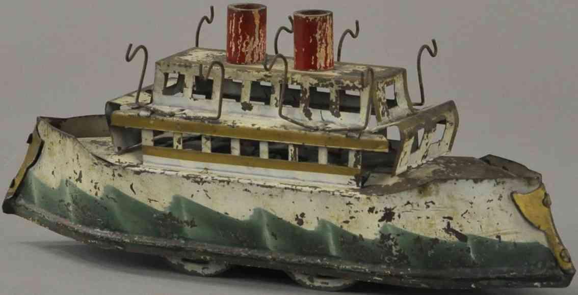 dayton blech spielzeug kiregsschiff mit friktionsantrieb