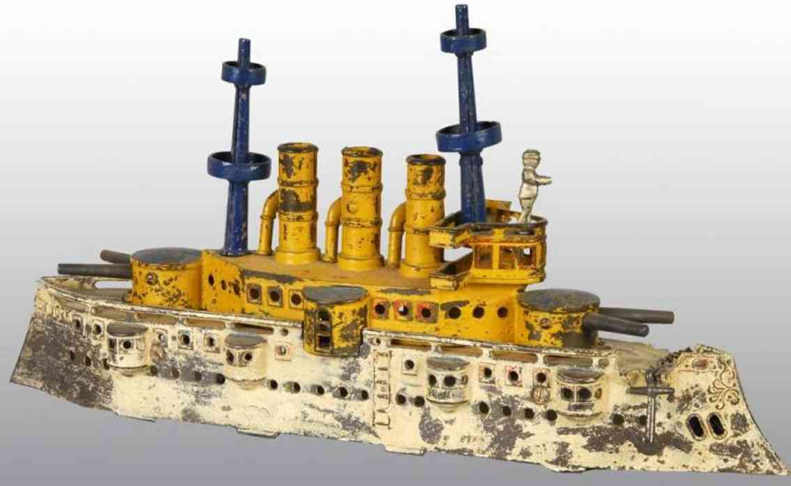 Dent Hardware Ship Cast iron large battleship