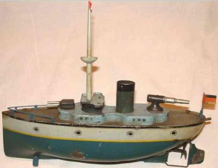falk 299/68 blech spielzeug kriegsschiff uhrwerk