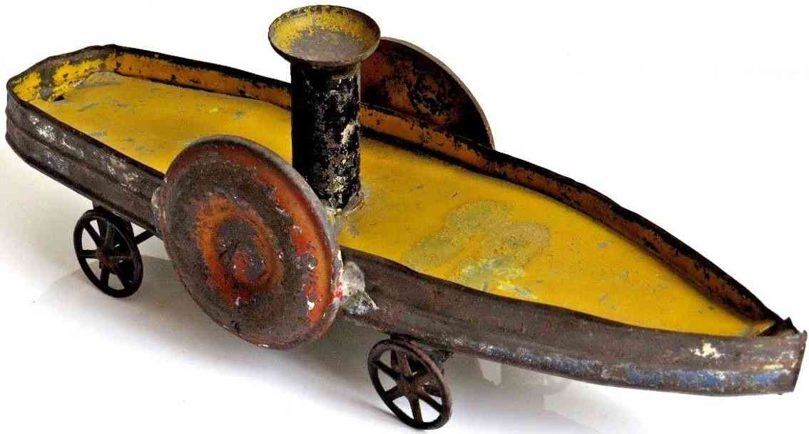fallows spielzeug schaufelradschiff aus blech und gusseisen