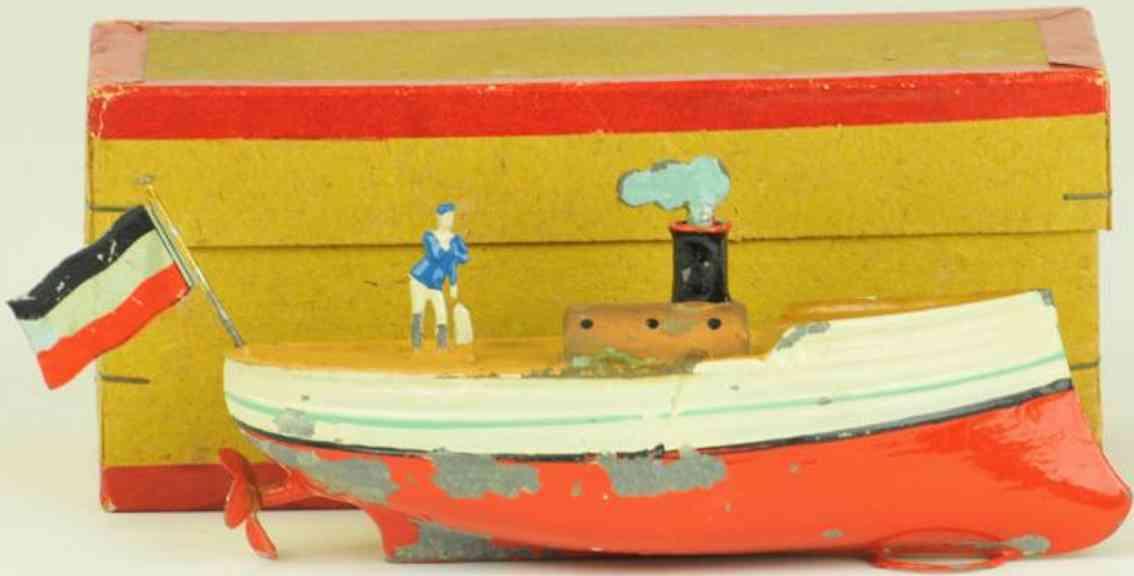 fleischmann 11 blech spielzeug schiff schraubendampfer