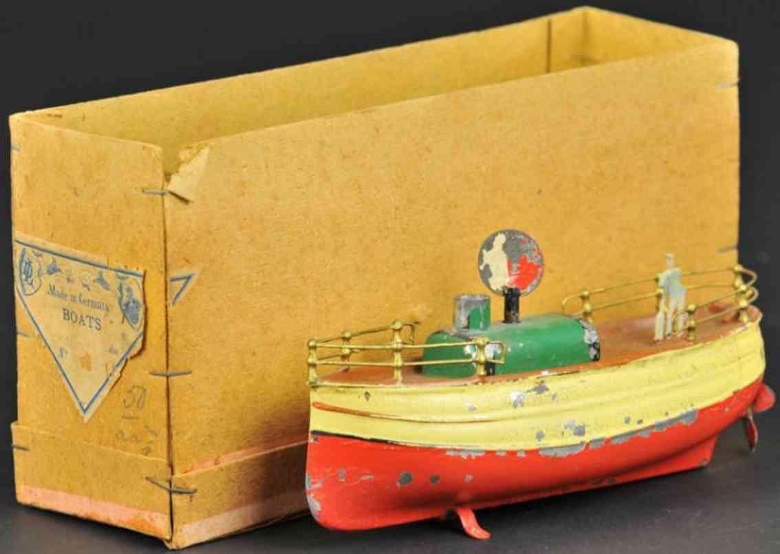 fleischmann 12 blech spielzeug schiff schraubendampfer uhrwerk