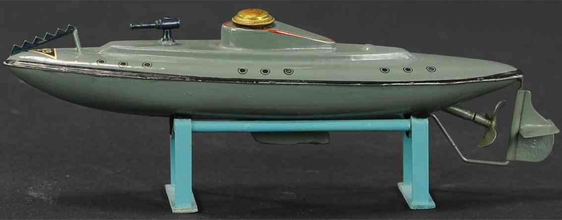 fleischmann 670/22 tin toy u-boat small charming clockwork submarine