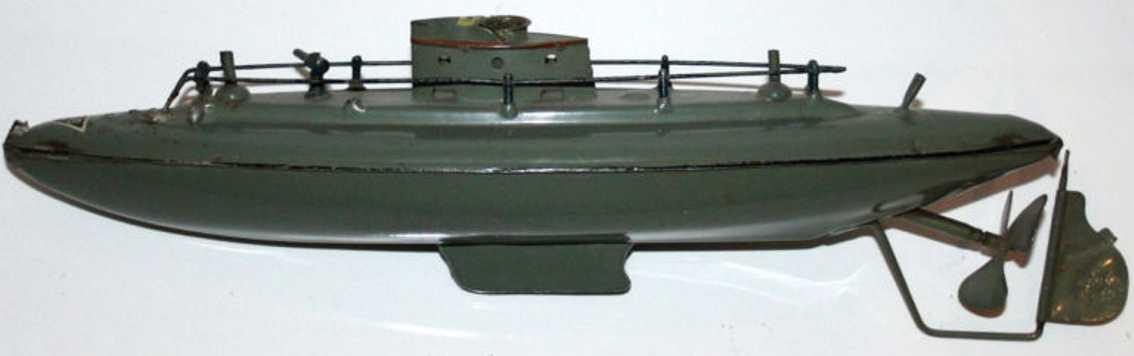 fleischmann 670/30 tin toy submarine clockwork