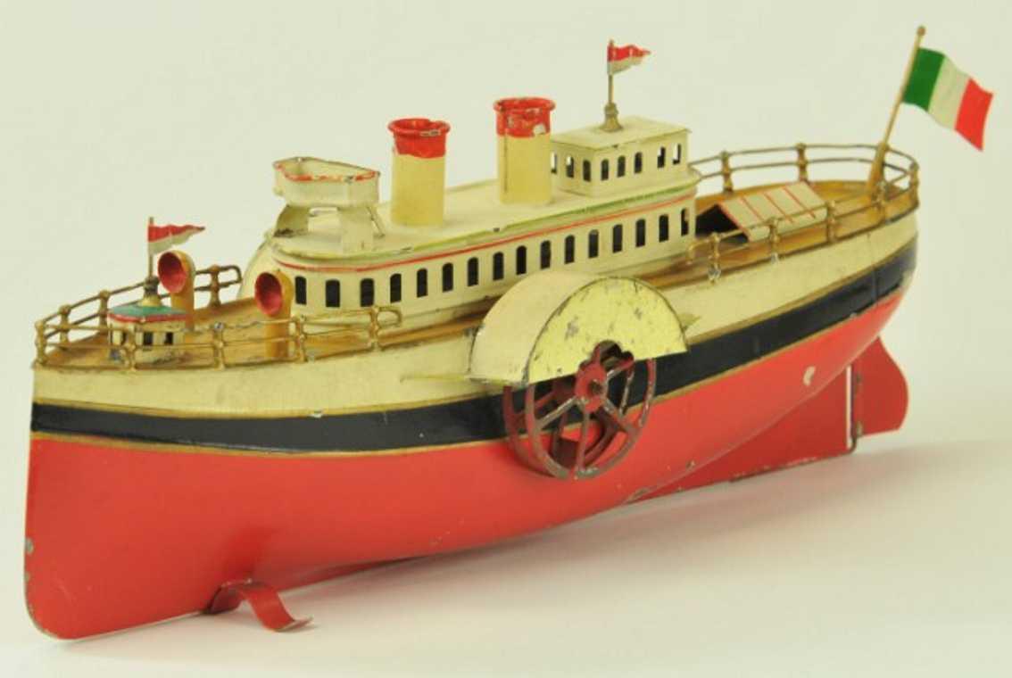 fleischmann 74r tin toy paddle wheeler clockwork