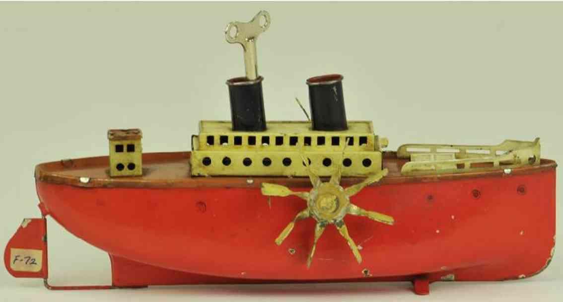 fleischmann 750/21 tin toy ship paddel wheeler