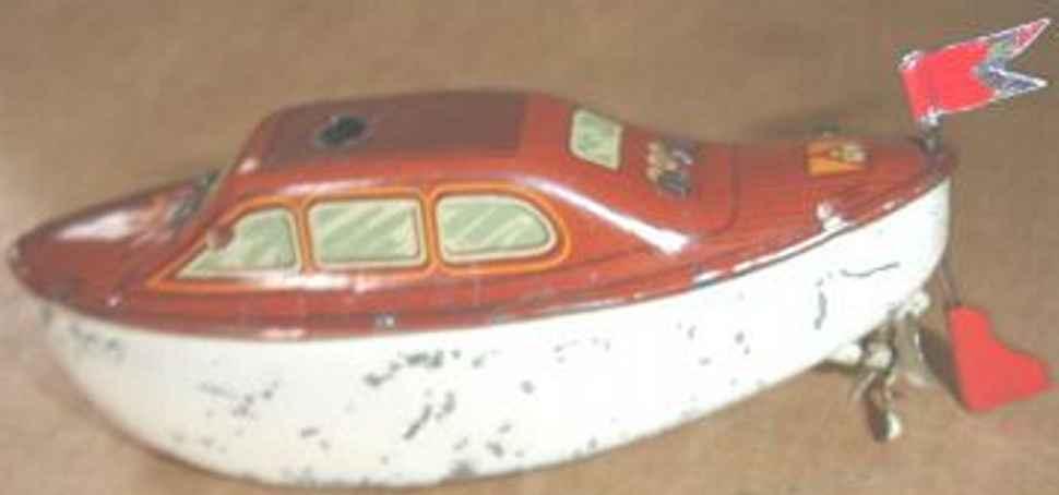 fleischmann 800 tin toy pre war sheet boat clockwork