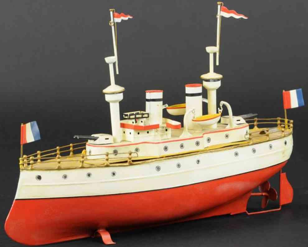 fleischmann 806 tin toy battleship clockwork