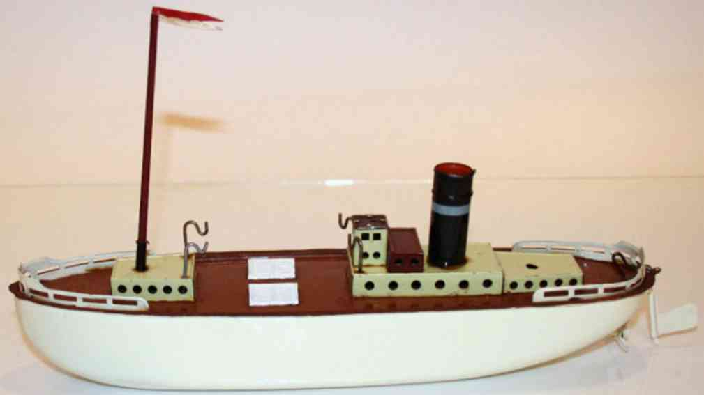 fleischmann 820 tin toy tugboat with clockwork drive