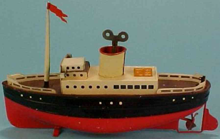 fleischmann 830/22 tin toy passenger steamer with clockwor